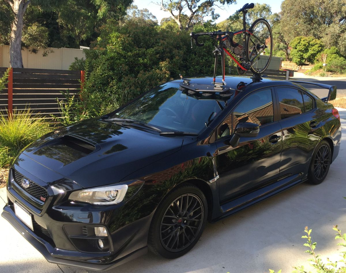 subaru wrx sti bike rack seasucker down under. Black Bedroom Furniture Sets. Home Design Ideas